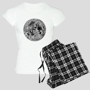 19th century moon engraving Women's Light Pajamas