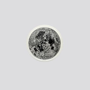 19th century moon engraving Mini Button