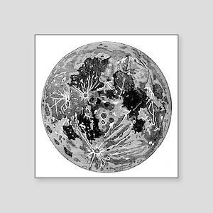 "19th century moon engraving Square Sticker 3"" x 3"""