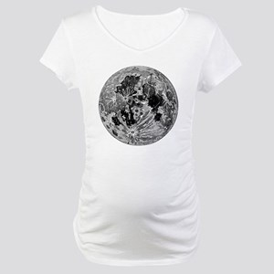 19th century moon engraving Maternity T-Shirt
