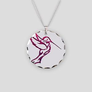 Hummingbird tribal Necklace Circle Charm