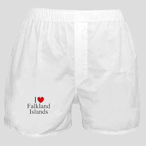 """I Love Falkland Islands"" Boxer Shorts"