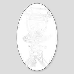 theodoliteinverted Sticker (Oval)