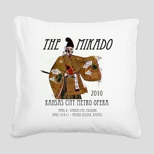 Mikado 2010 T-Shirt Square Canvas Pillow