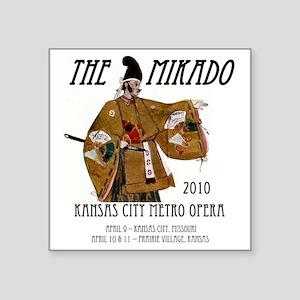 "Mikado 2010 T-Shirt Square Sticker 3"" x 3"""