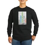 ChiArts Logo Vertical Dark Long Sleeve T-Shirt