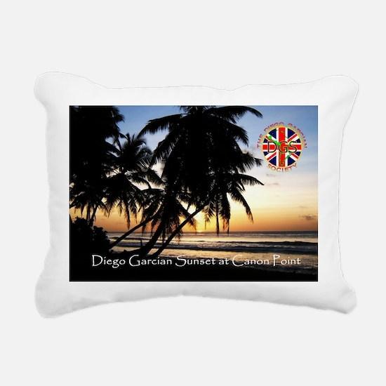 Postcard-sunset-v1.gif Rectangular Canvas Pillow