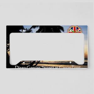 Postcard-sunset-v1 License Plate Holder