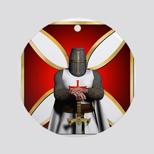 TemplarandCross Round Ornament