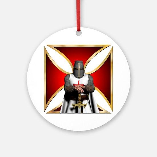 TemplarandCross Round Ornament