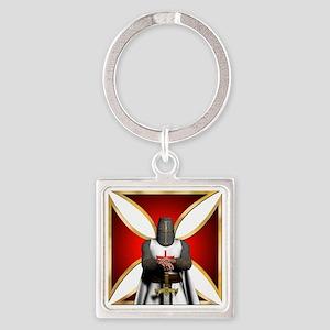 TemplarandCross Square Keychain