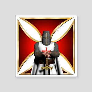 "TemplarandCross Square Sticker 3"" x 3"""