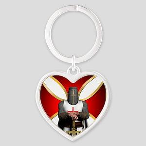 TemplarandCross Heart Keychain