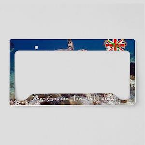 Postcard-hawksbill-v1 License Plate Holder
