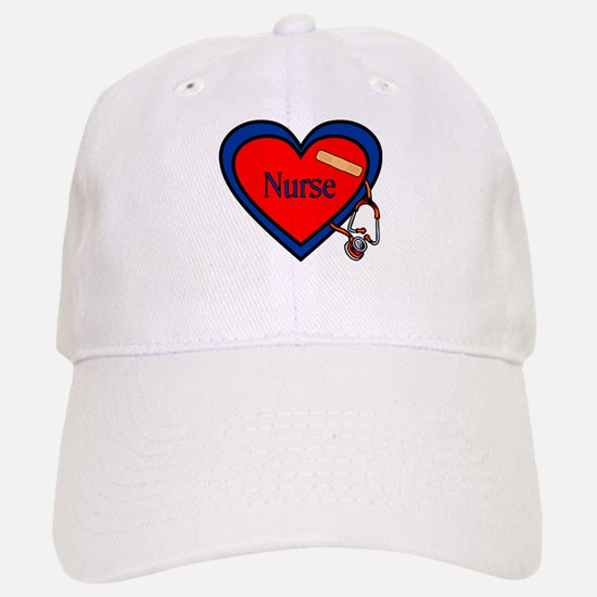 Nurse Heart Baseball Baseball Cap