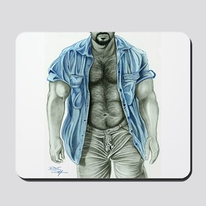 Blue shirt2 Mousepad