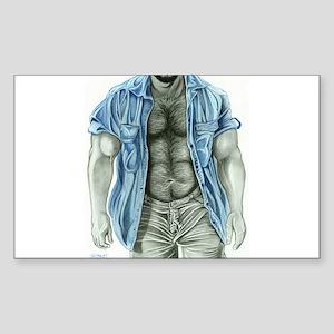 Blue shirt2 Rectangle Sticker
