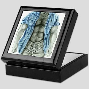 Blue shirt2 Keepsake Box