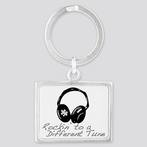 Rockin to a Different Tune Silv Landscape Keychain