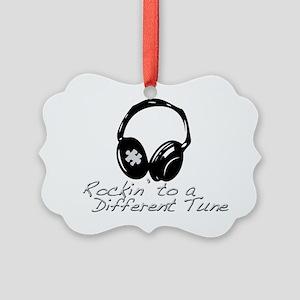 Rockin to a Different Tune Silver Picture Ornament