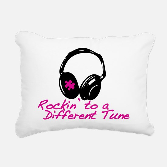 Rockin to a Different Tu Rectangular Canvas Pillow