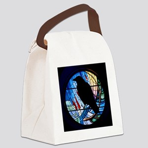 Raven Silhouette Canvas Lunch Bag