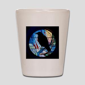 Raven Silhouette Shot Glass