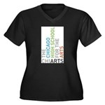 ChiArts Logo Vertical Dark Plus Size T-Shirt