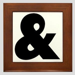 ampersand pillow Framed Tile