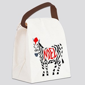 Christmas Noel Zebra Canvas Lunch Bag