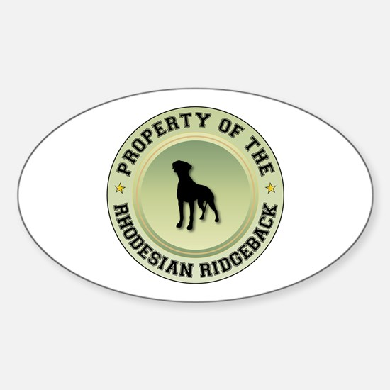 Rhodesian Property Oval Decal
