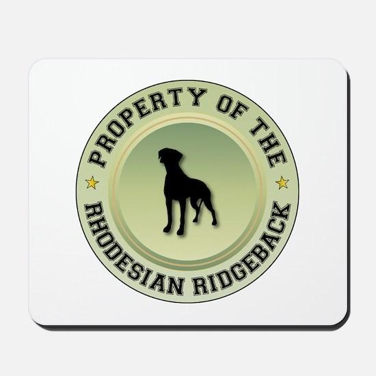 Rhodesian Property Mousepad