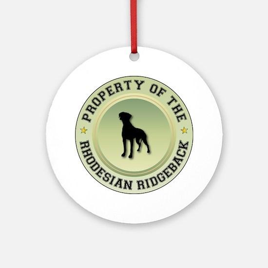 Rhodesian Property Ornament (Round)