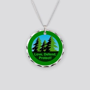 Love Defend Protect Environm Necklace Circle Charm