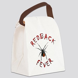 Redback Fever (Chiller red on bla Canvas Lunch Bag