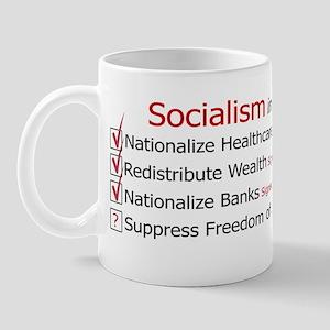 Socialism checkmarks Bumper Sticker Mug