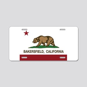 california flag bakersfield Aluminum License Plate
