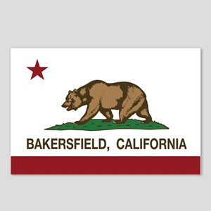 california flag bakersfield Postcards (Package of