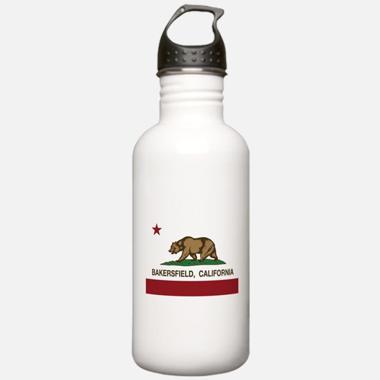 california flag bakersfield Water Bottle