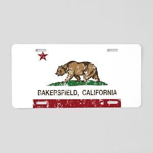 california flag bakersfield distressed Aluminum Li