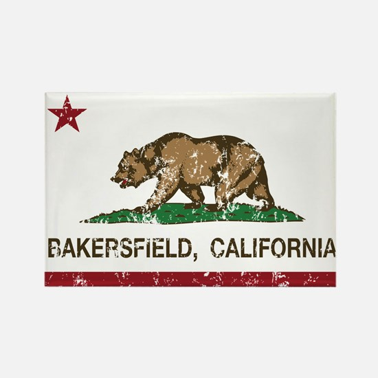 california flag bakersfield distressed Magnets