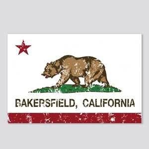 california flag bakersfield distressed Postcards (
