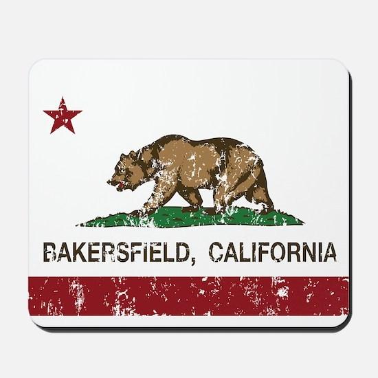 california flag bakersfield distressed Mousepad