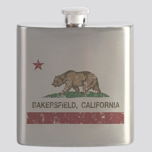 california flag bakersfield distressed Flask