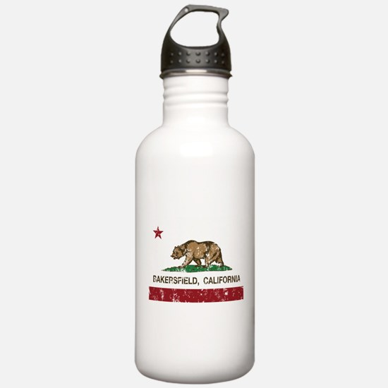 california flag bakersfield distressed Water Bottl