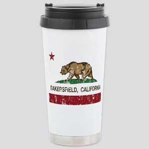 california flag bakersfield distressed Travel Mug