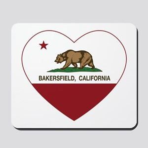 california flag bakersfield heart Mousepad
