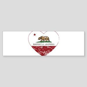 california flag bakersfield heart distressed Bumpe