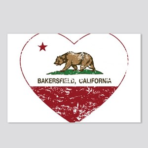 california flag bakersfield heart distressed Postc