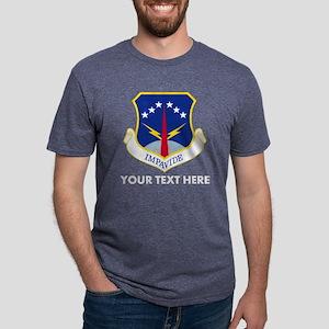 Personalized USAF 90 Missil Mens Tri-blend T-Shirt